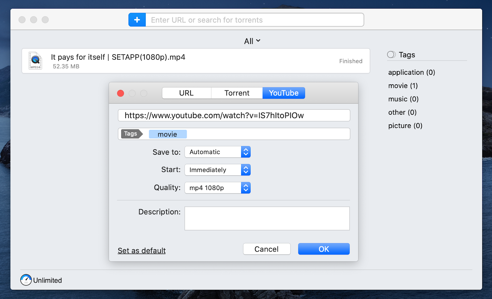 Folx download manager for Mac