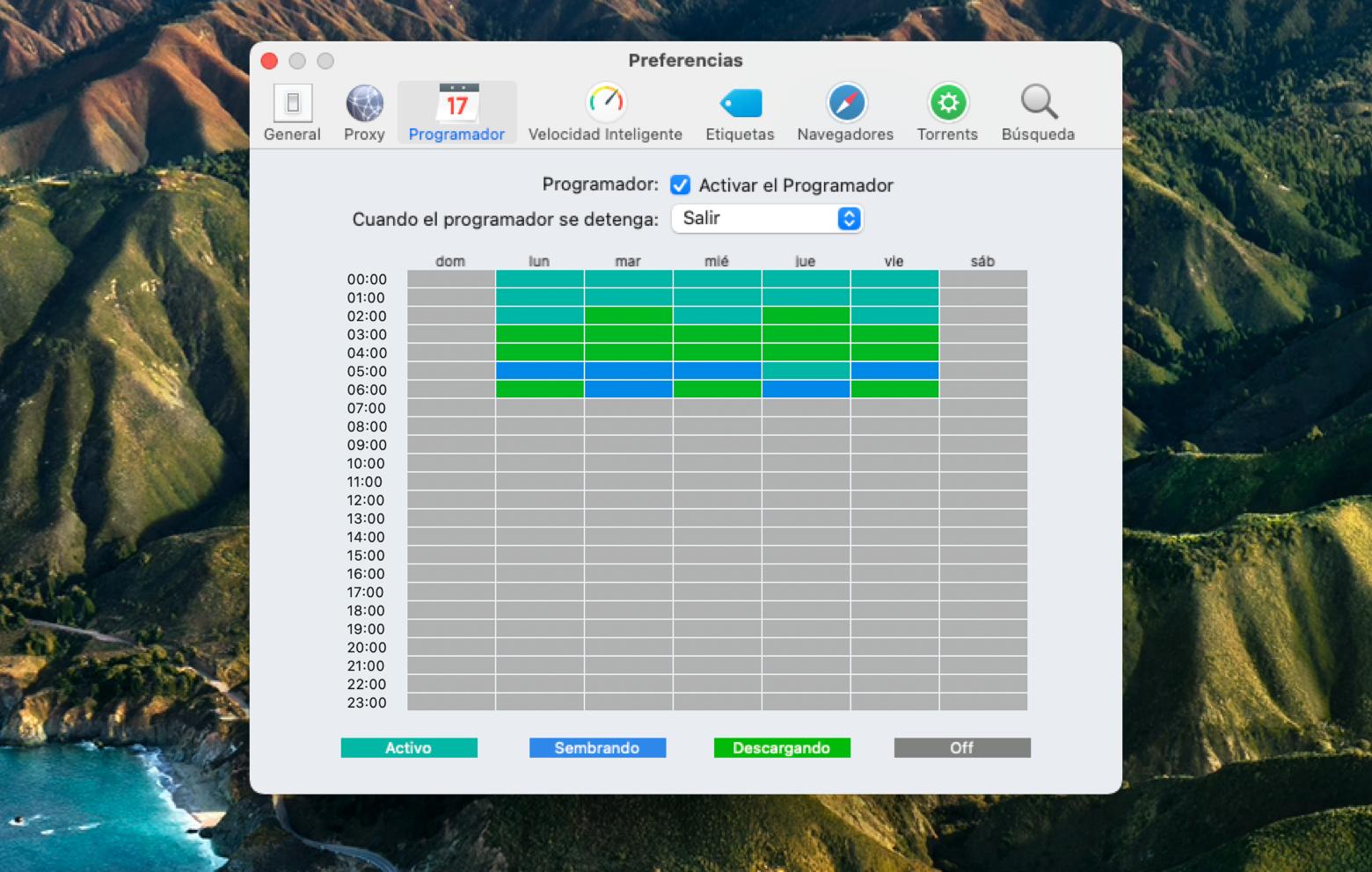 Folx downloading scheduller
