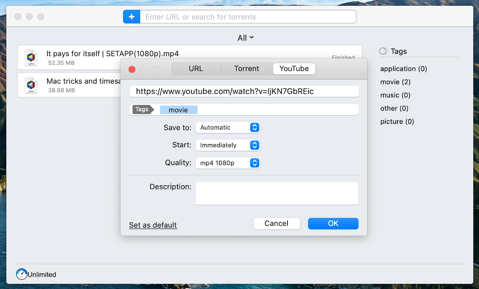 Save videos from YouTube to watch them offline