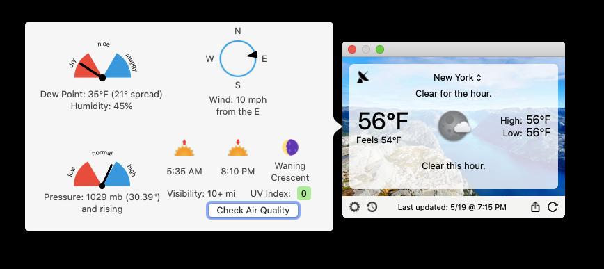 Forecast Bar app Mac weather monitor