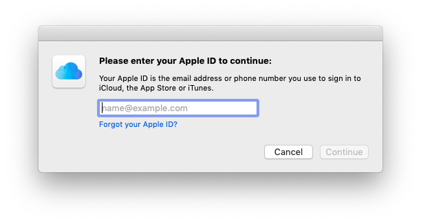 forgot password itunes