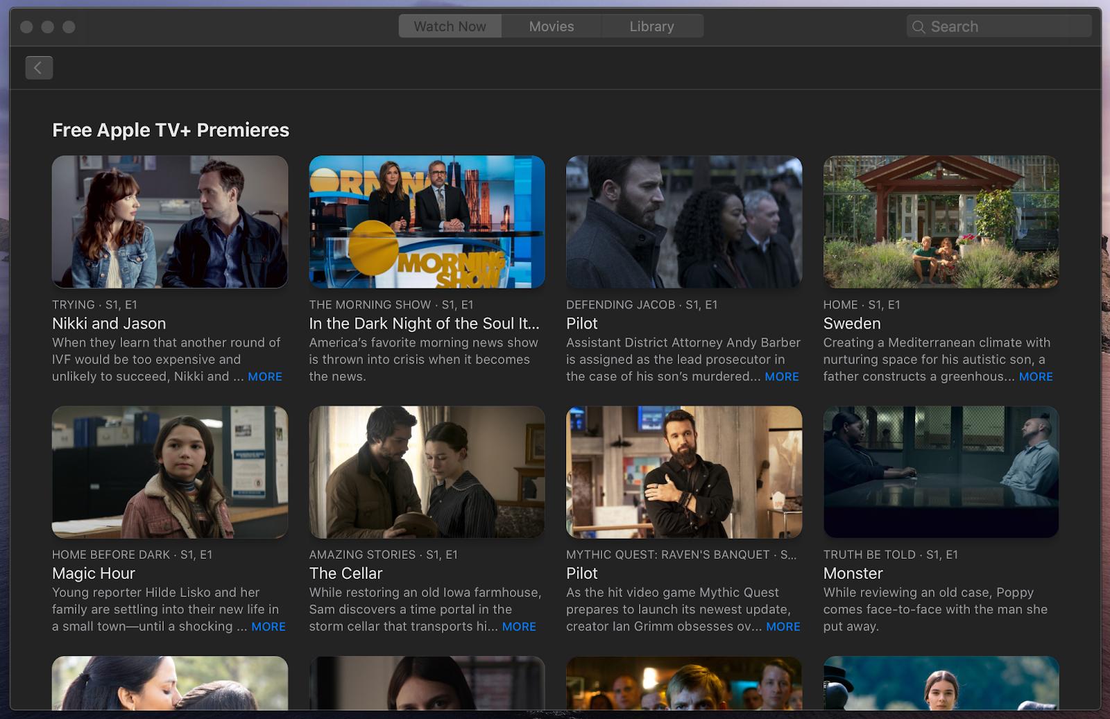 free Apple TV+ shows