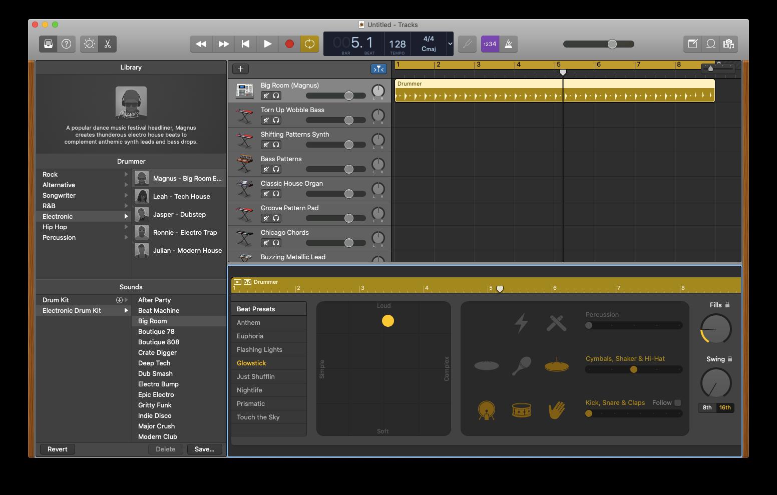 GarageBand Mac music making software
