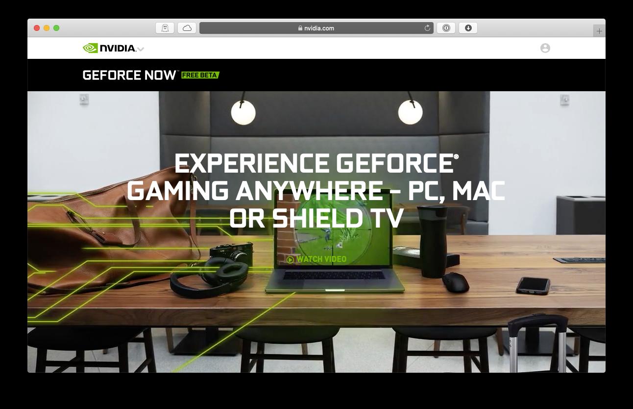 GeForce Now Mac gaming