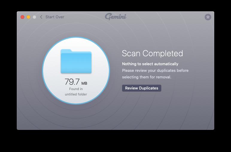 Gemini find duplicates Mac app