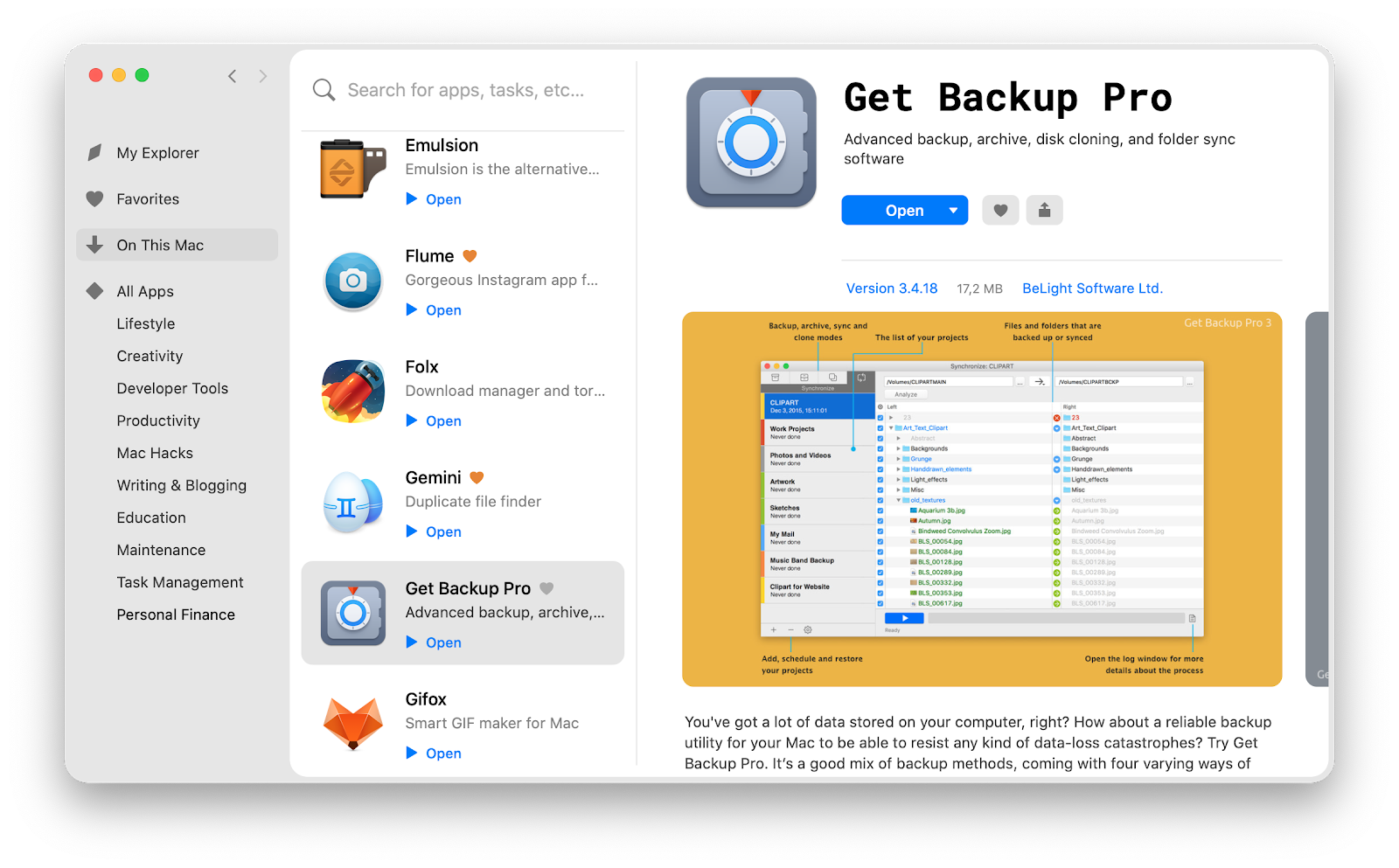 Get Backup Pro on Setapp