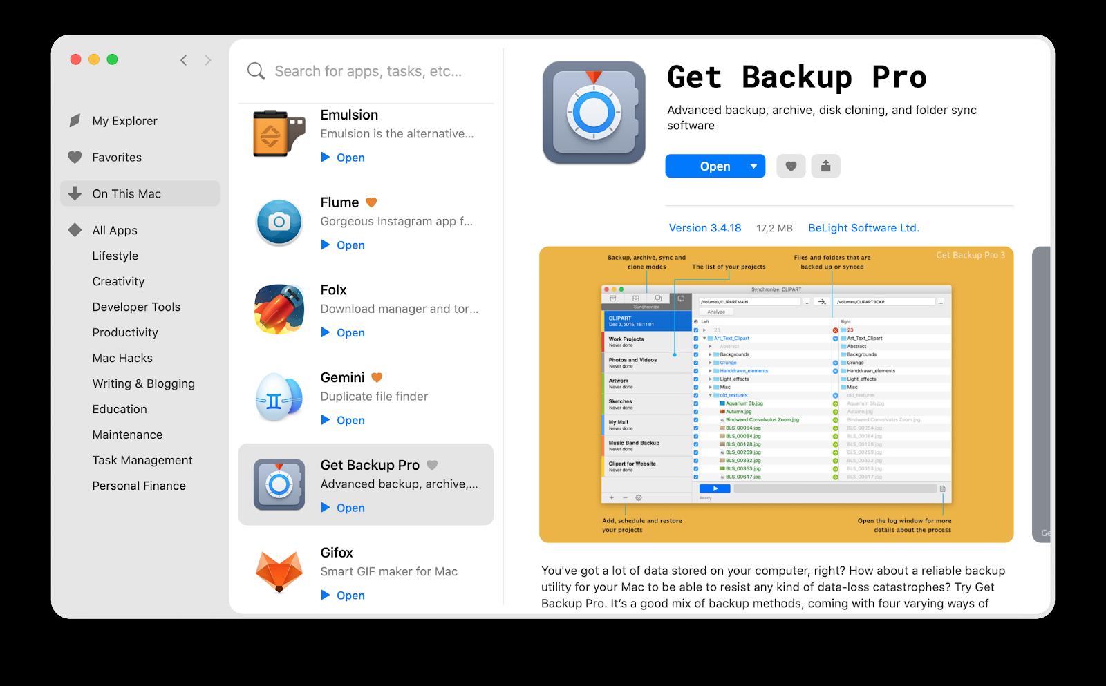 Get Backup Pro on Setapp