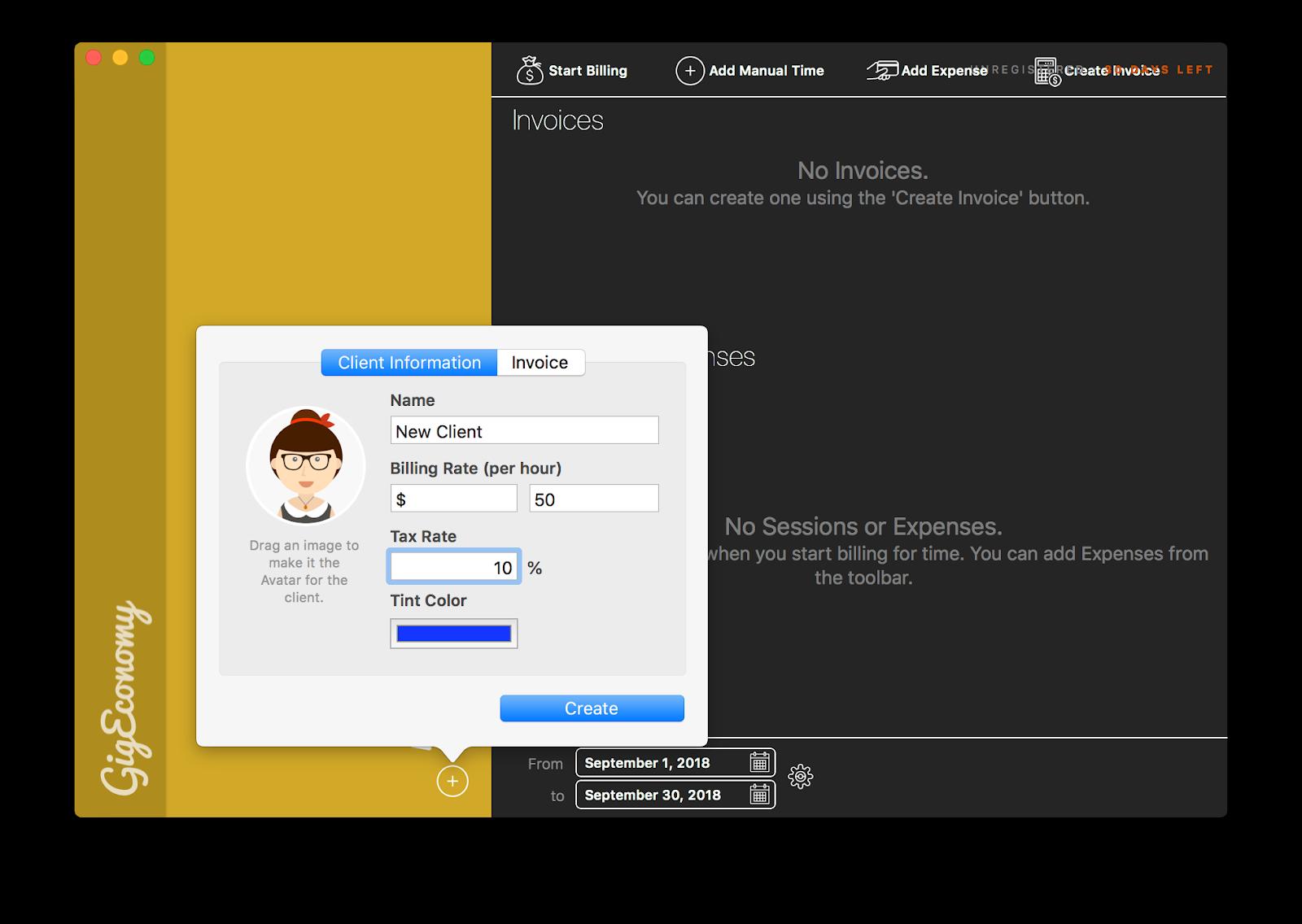 gigeconomy create a client