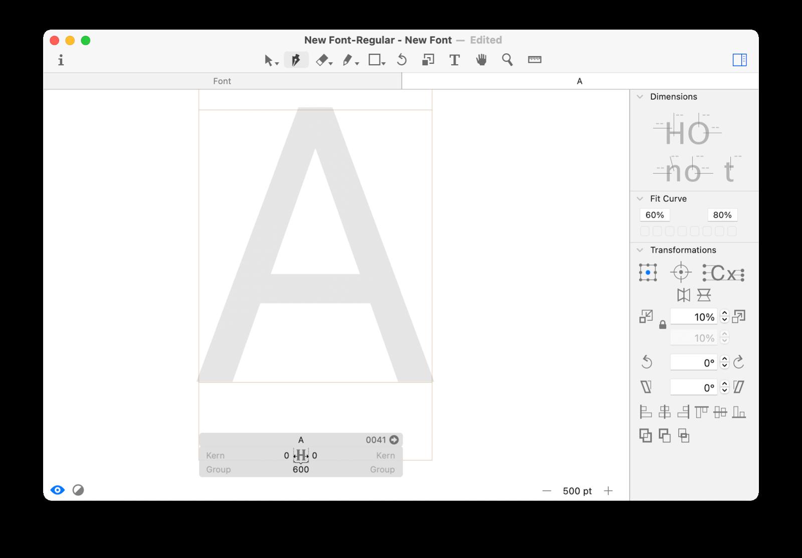 glyphs mini create font mac