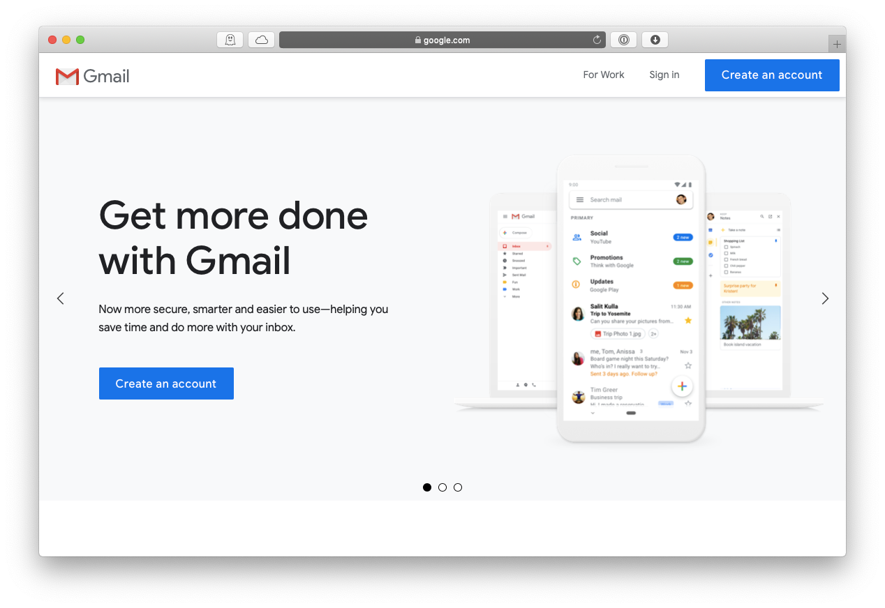 gmail email account