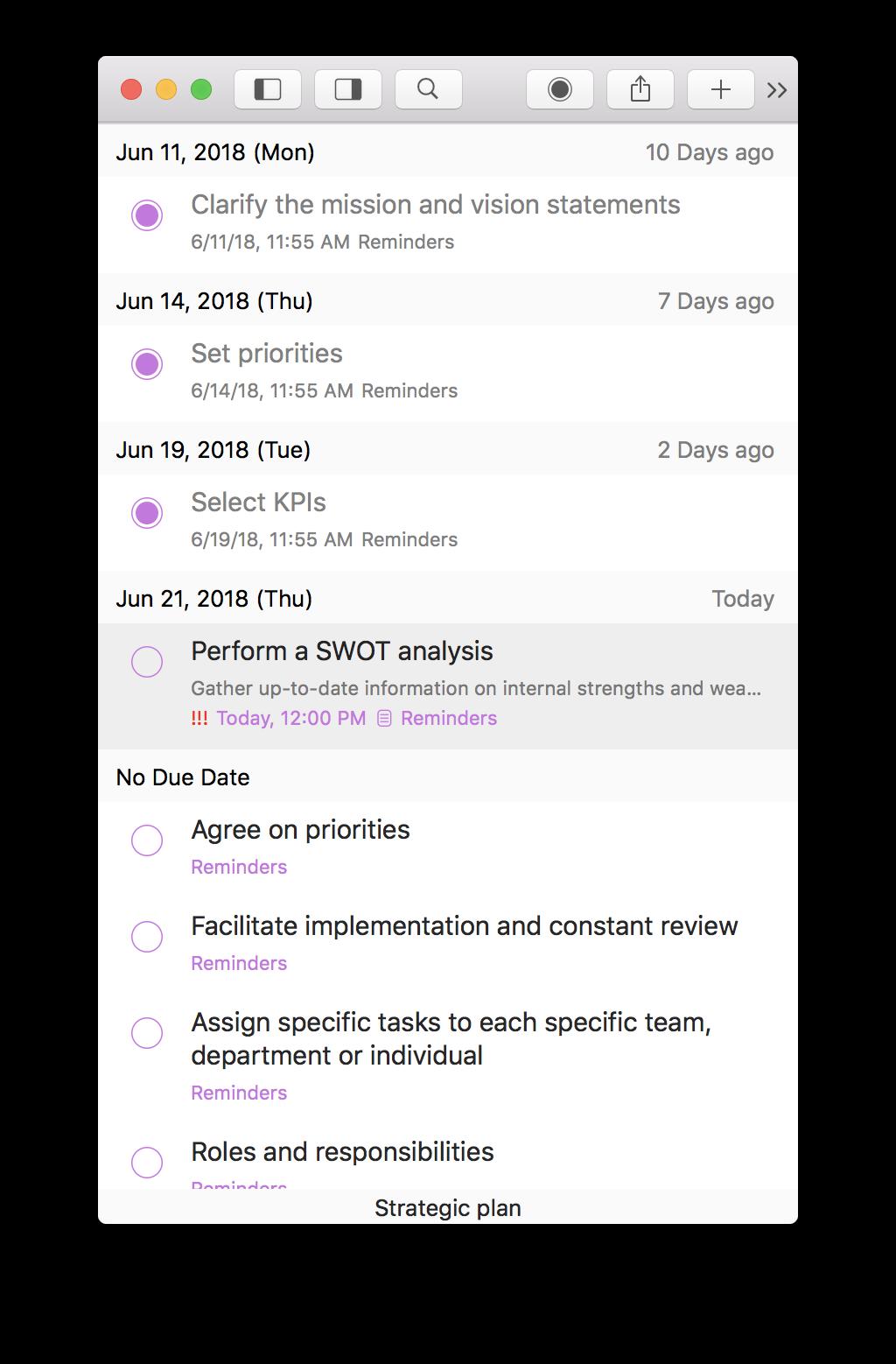 Planning process in GoodTask app