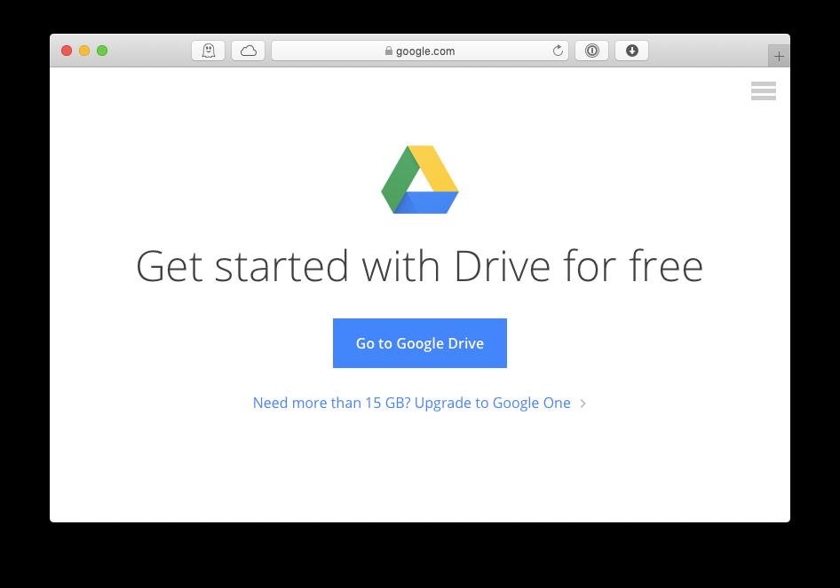 google drive download mac