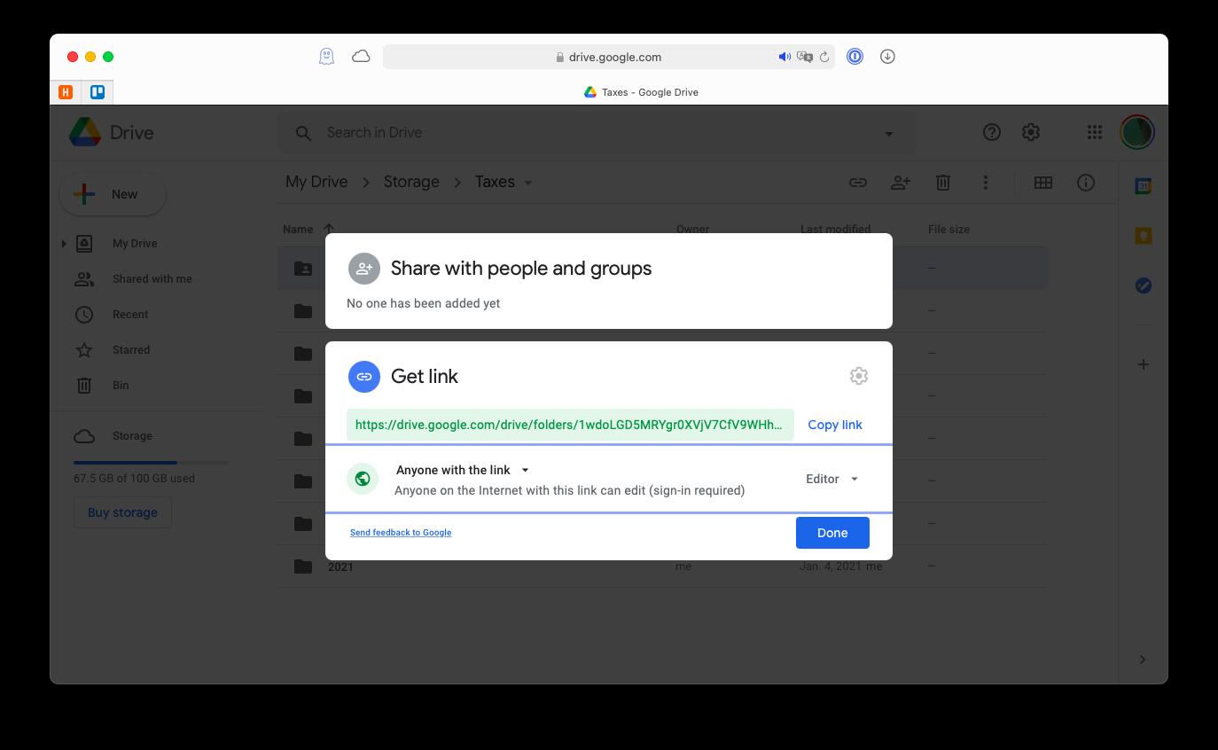 shareable Google Drive link
