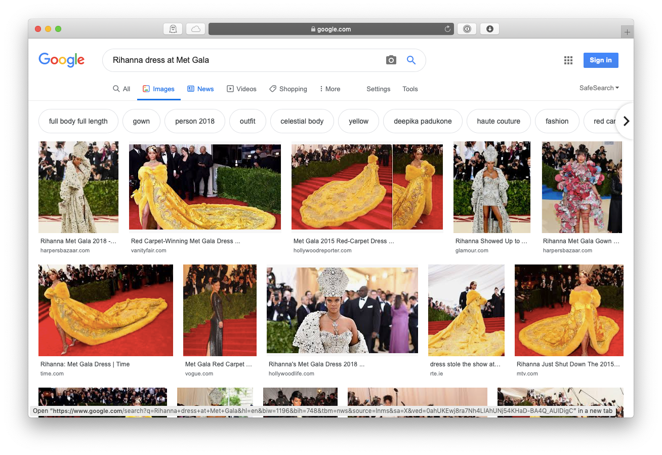 Google Image search Mac