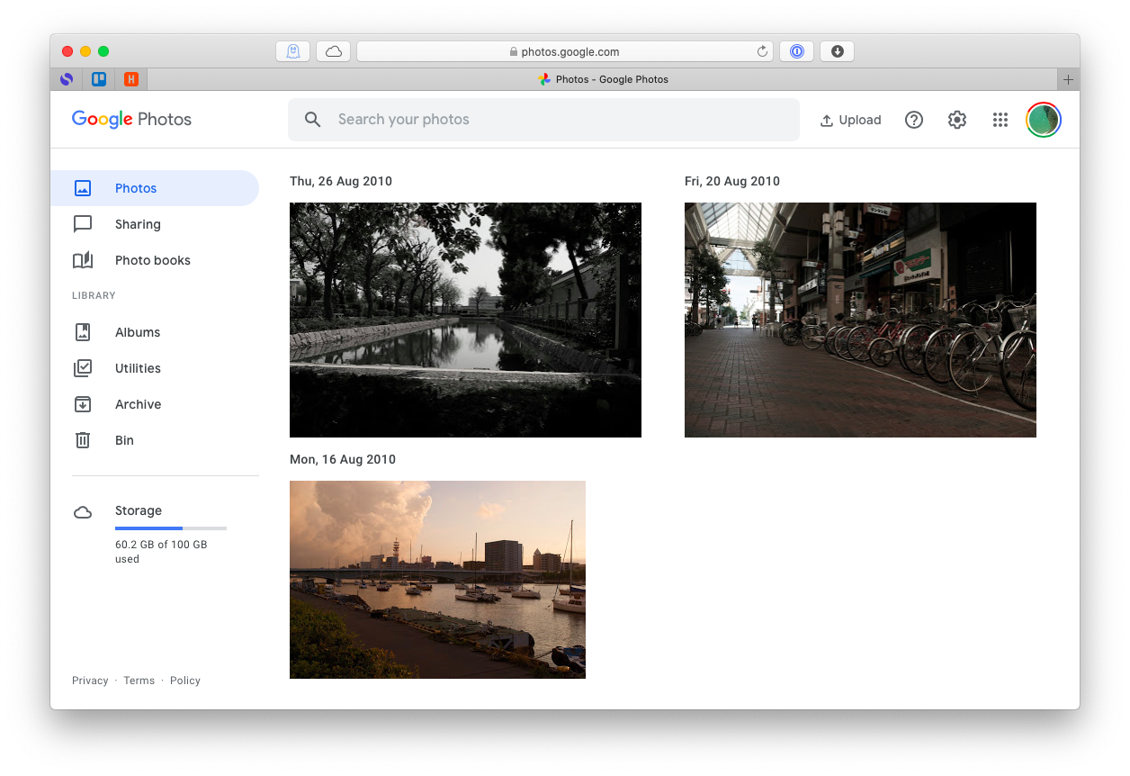 Google Photos account files