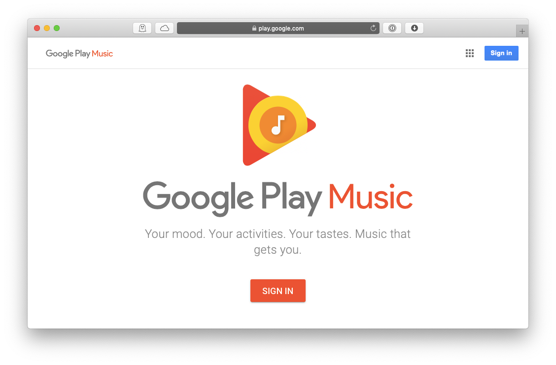 Google Play music subscription