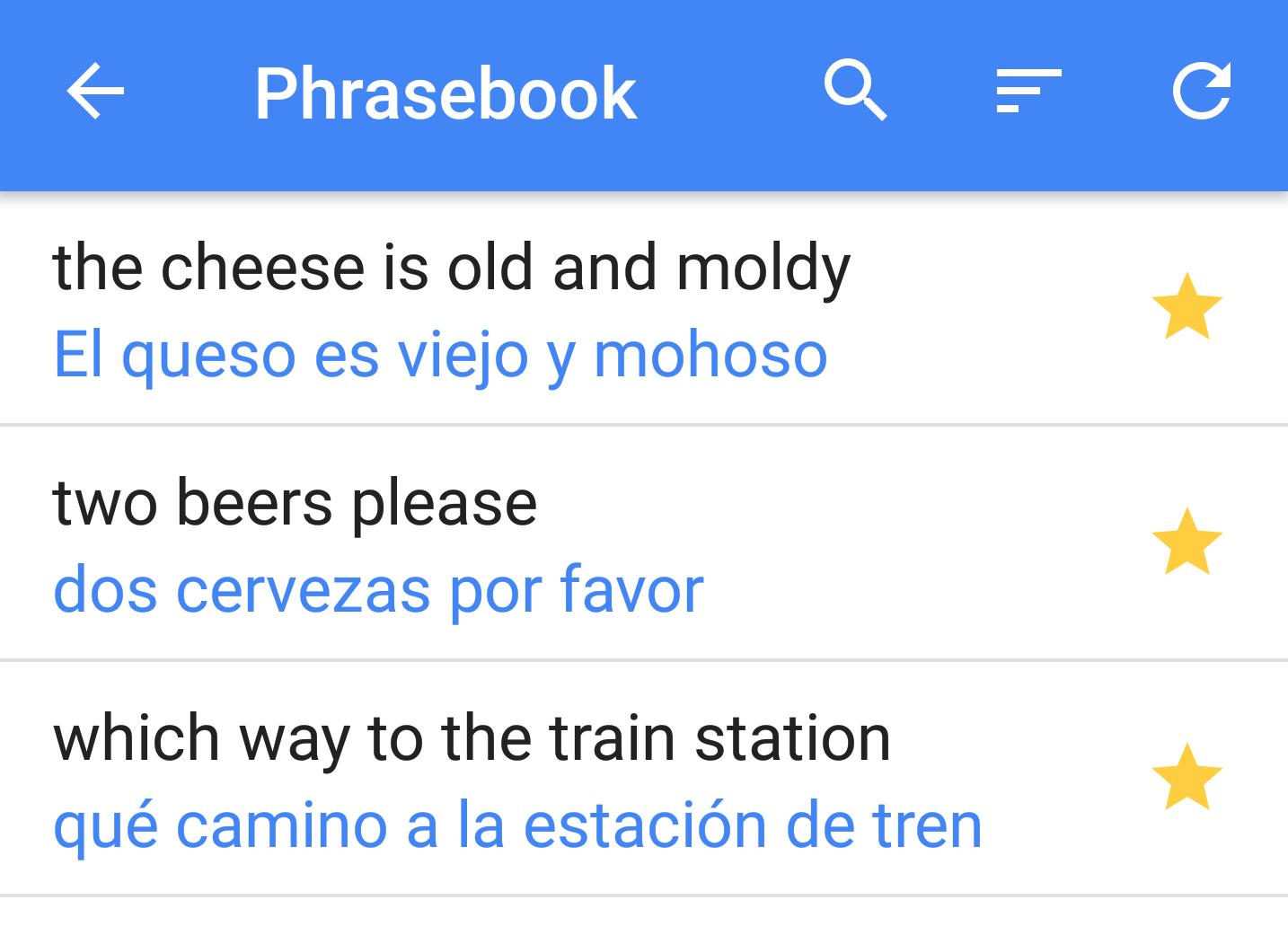 google translate phrasebook