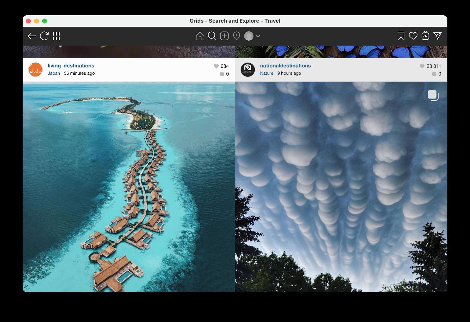 Explore Instagram from Mac