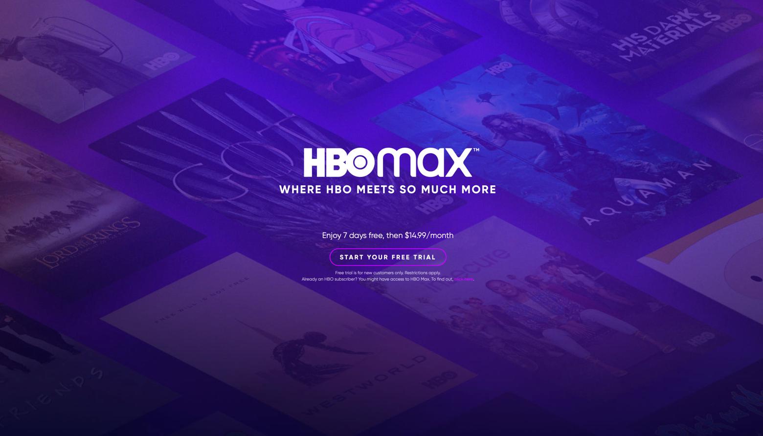 HBO Max website