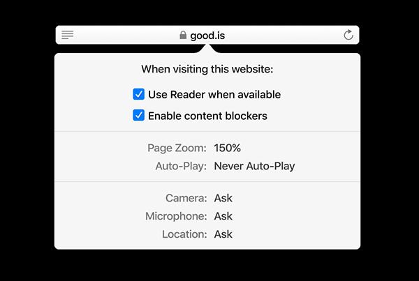 Safari browser upgrades