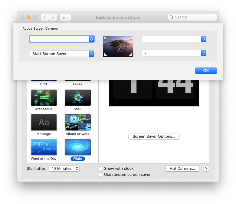 hot corners Mac feature system preferences