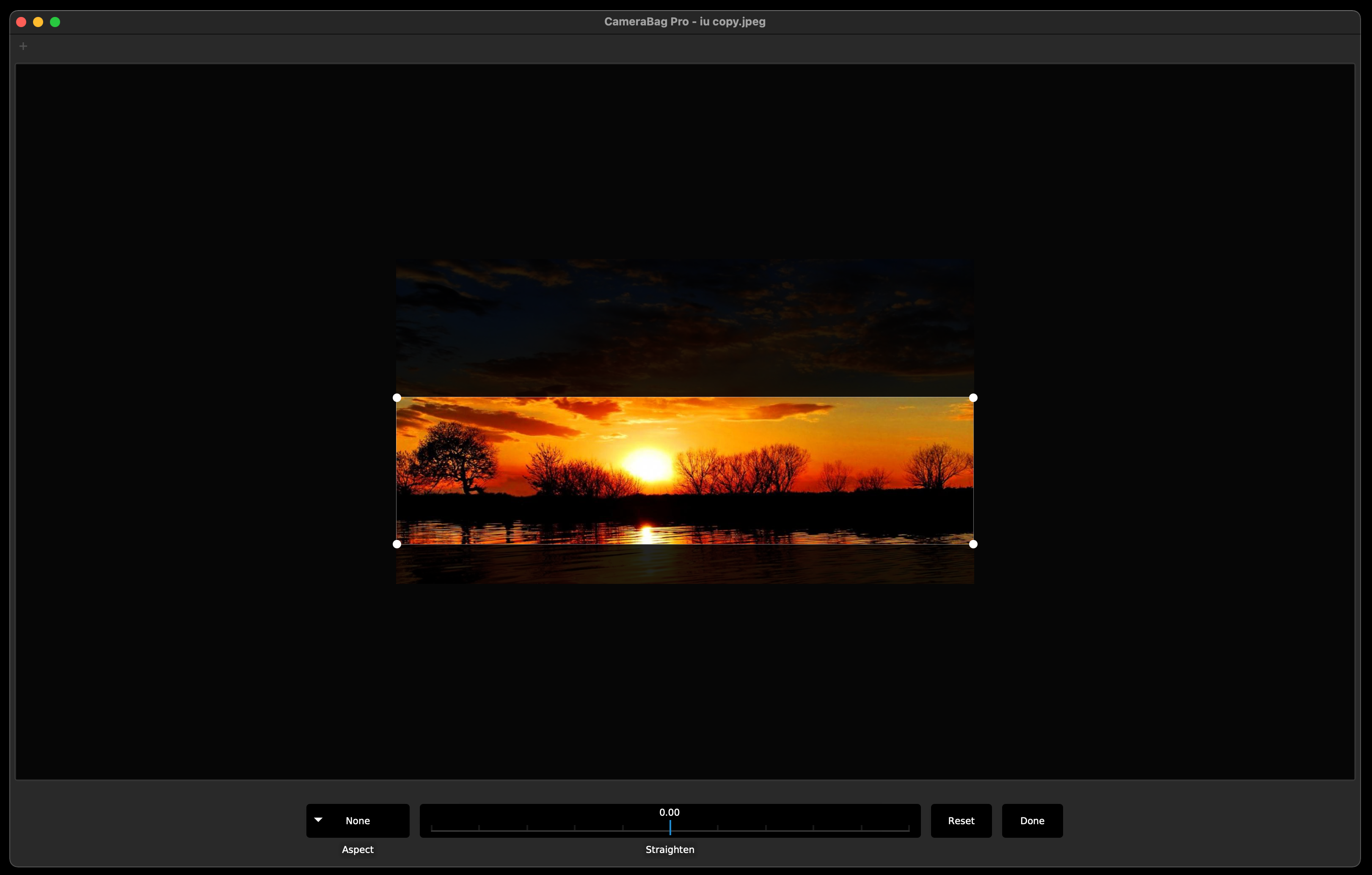 how to crop image with camerabag