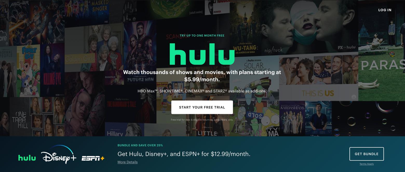Hulu Mac desktop