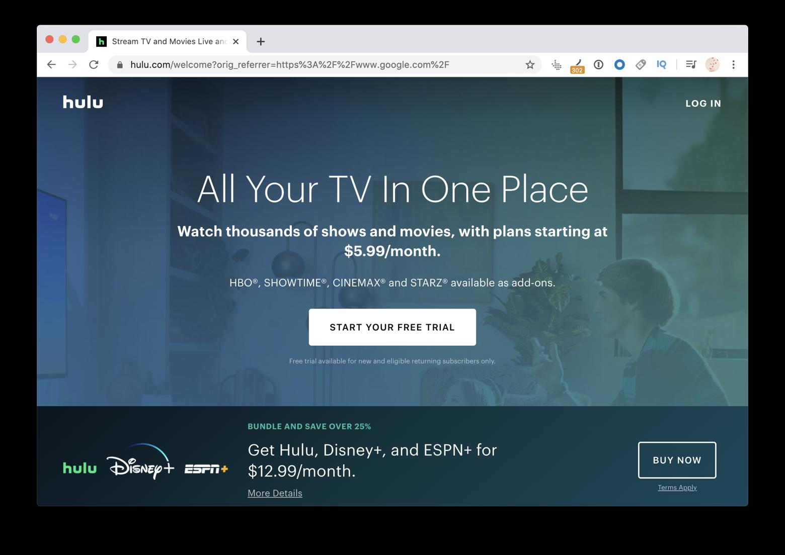 Hulu.com website