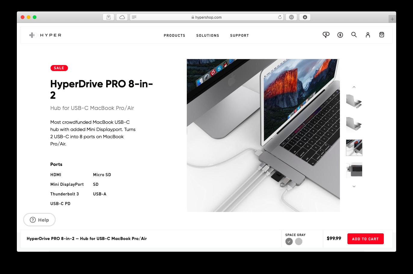 HyperDrive PRO USB-C hub