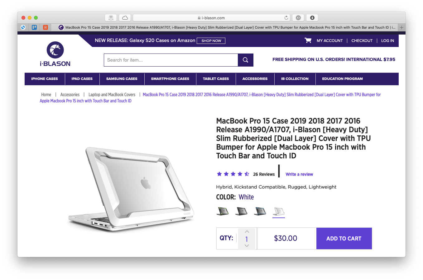 i-Blason MacBook cover rugged shockproof