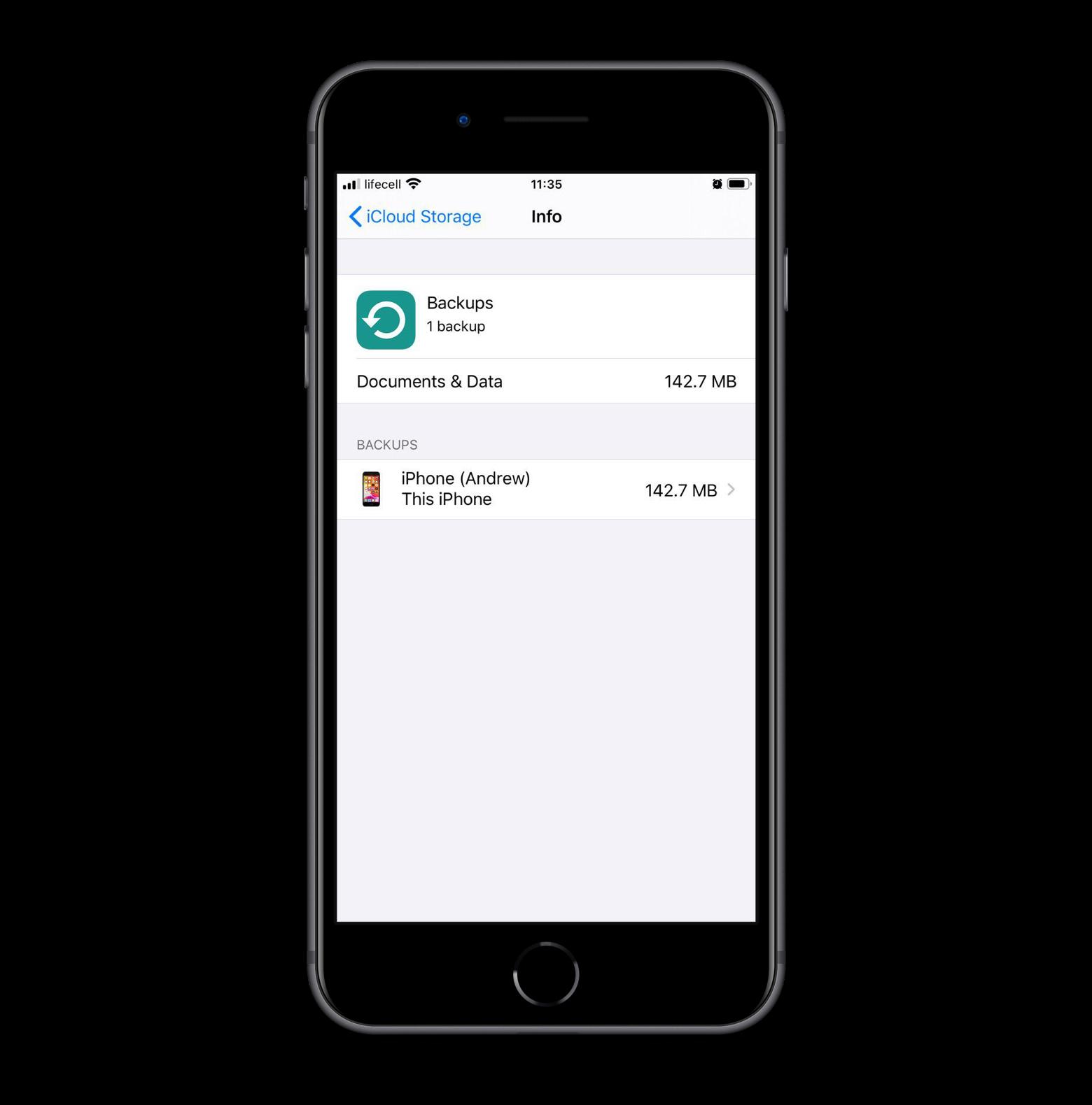 Backup iPhone data to iCloud