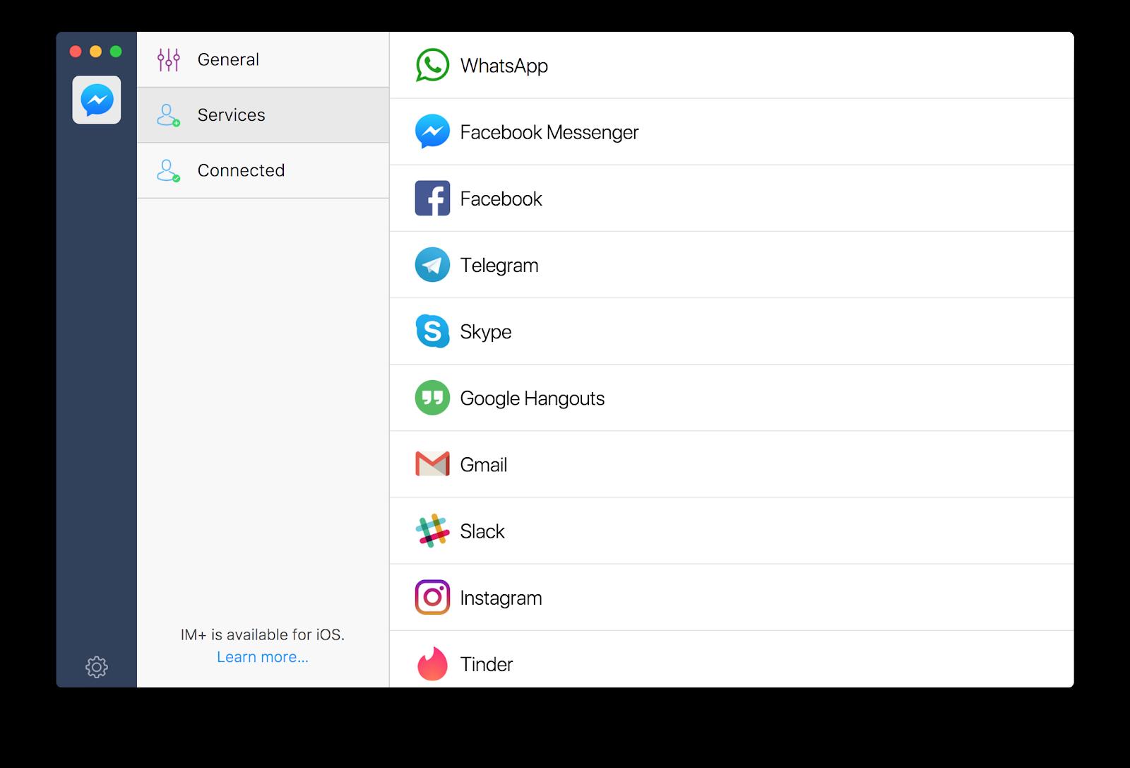 IM+ messaging client