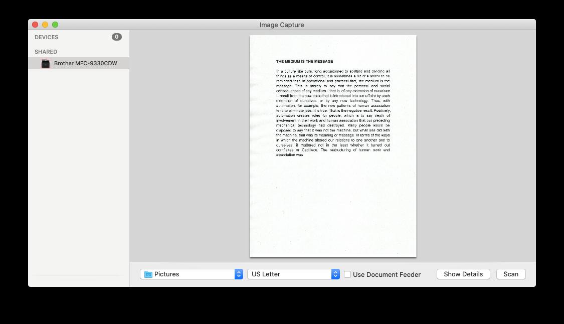 image capture Mac scan utility best