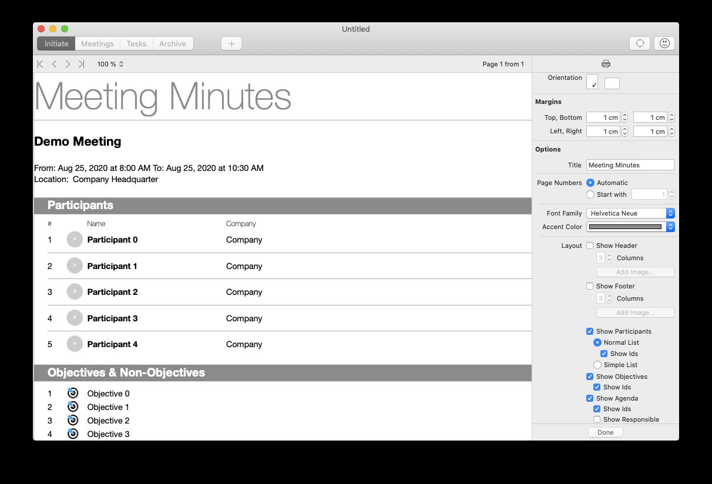 iMeetingX meeting notes Mac