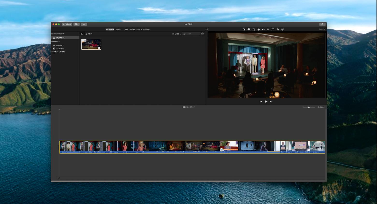 iMovie video editing