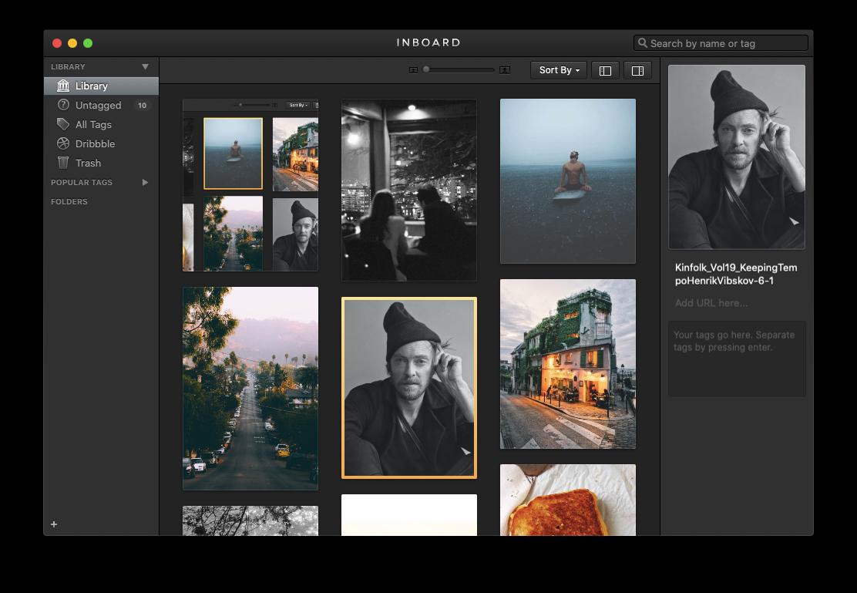 Inboard image library app Mac photo