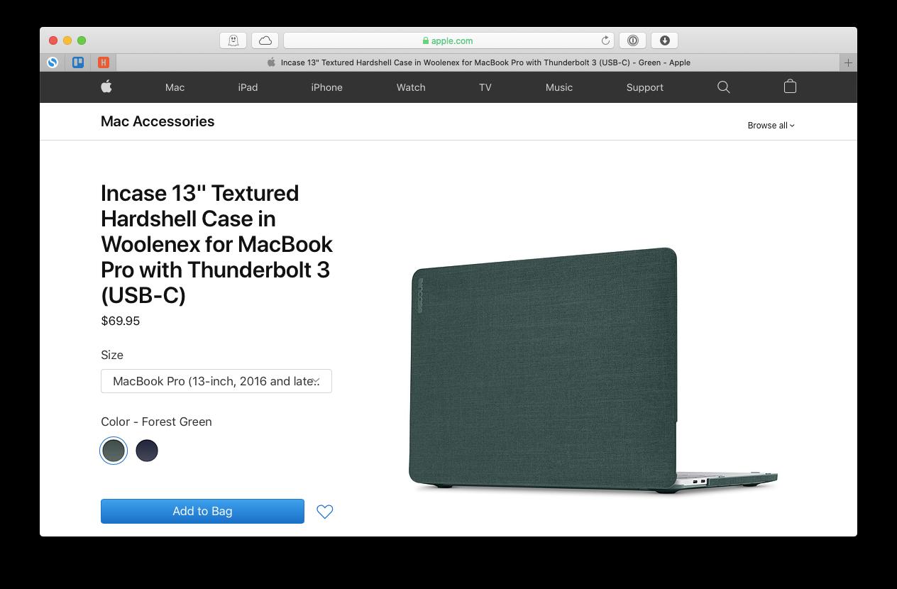 Incase MacBook Hardshell Case