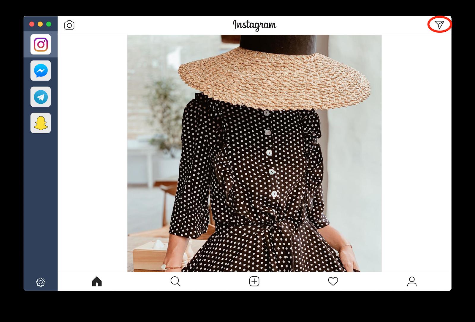 Usar la app IM+ para enviar mensajes directos de Instagram