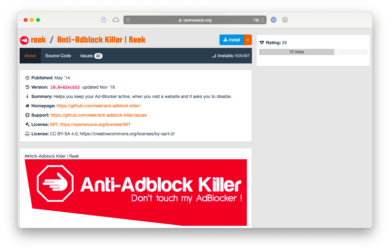 Anti-Adblock Killer