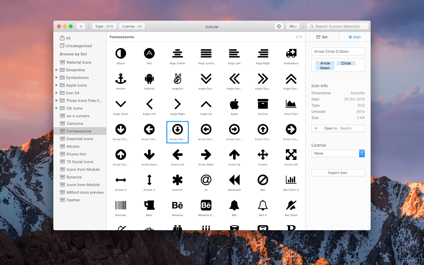Convert icons to a web font
