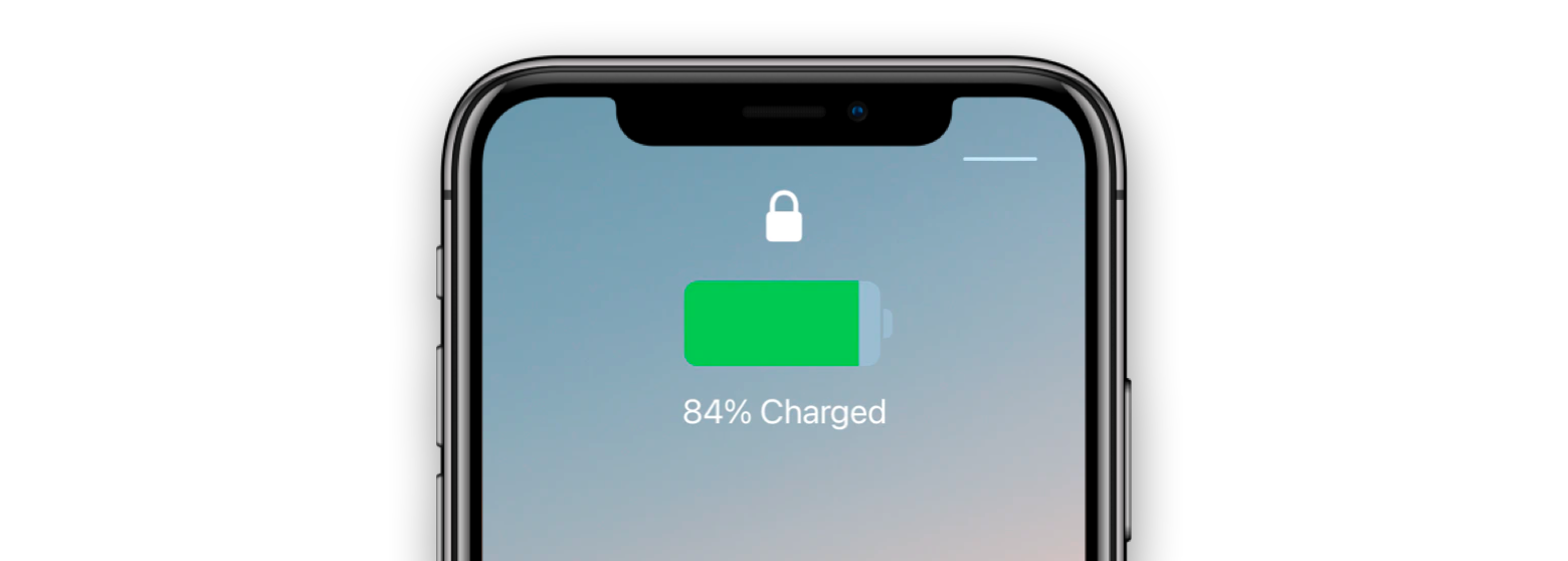 Battery percentage when charging