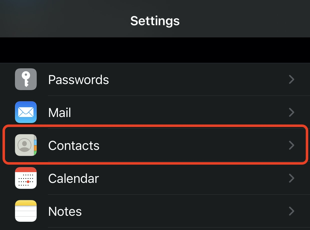 contacts on iphone