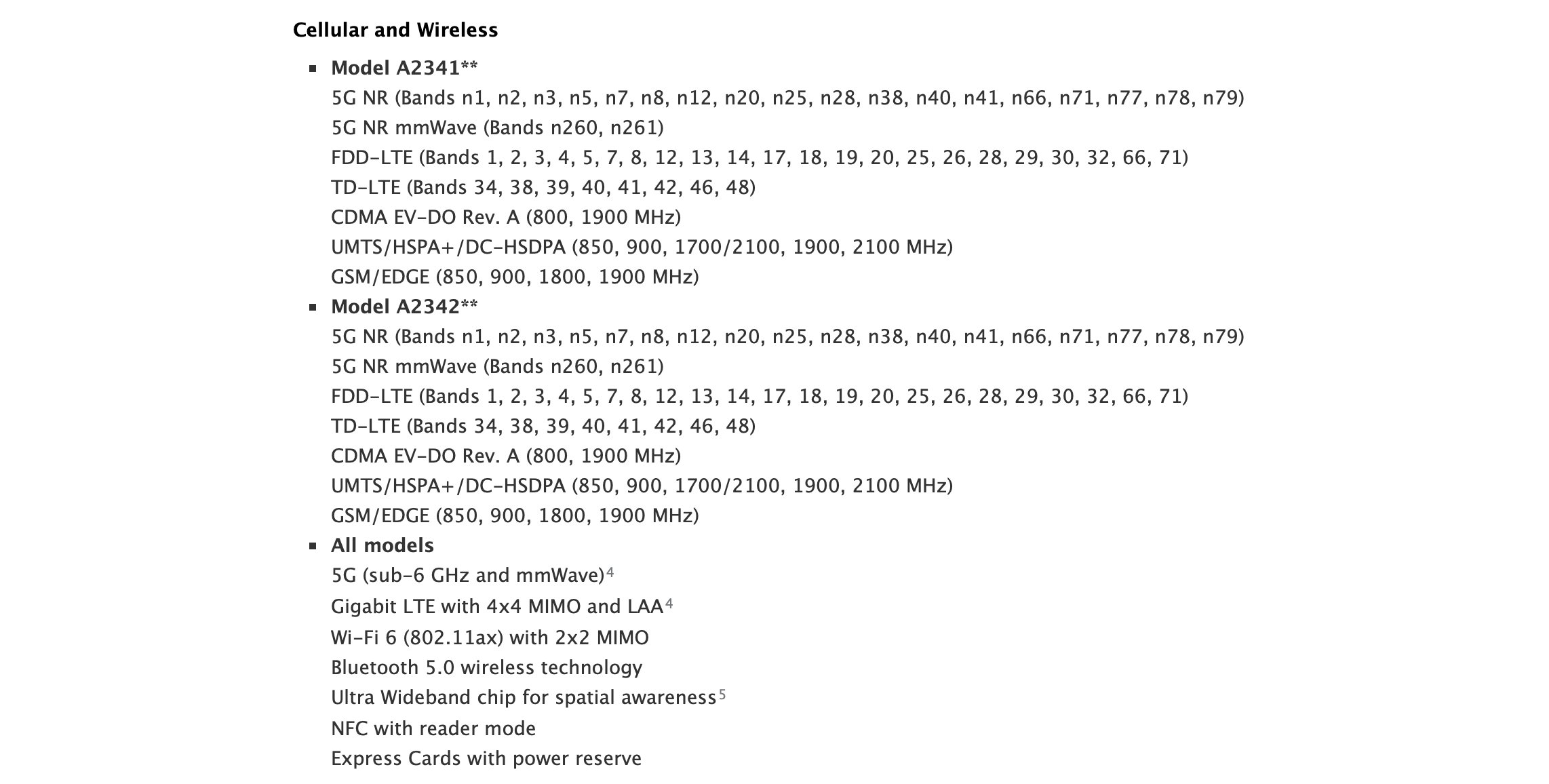 iphone tech specification