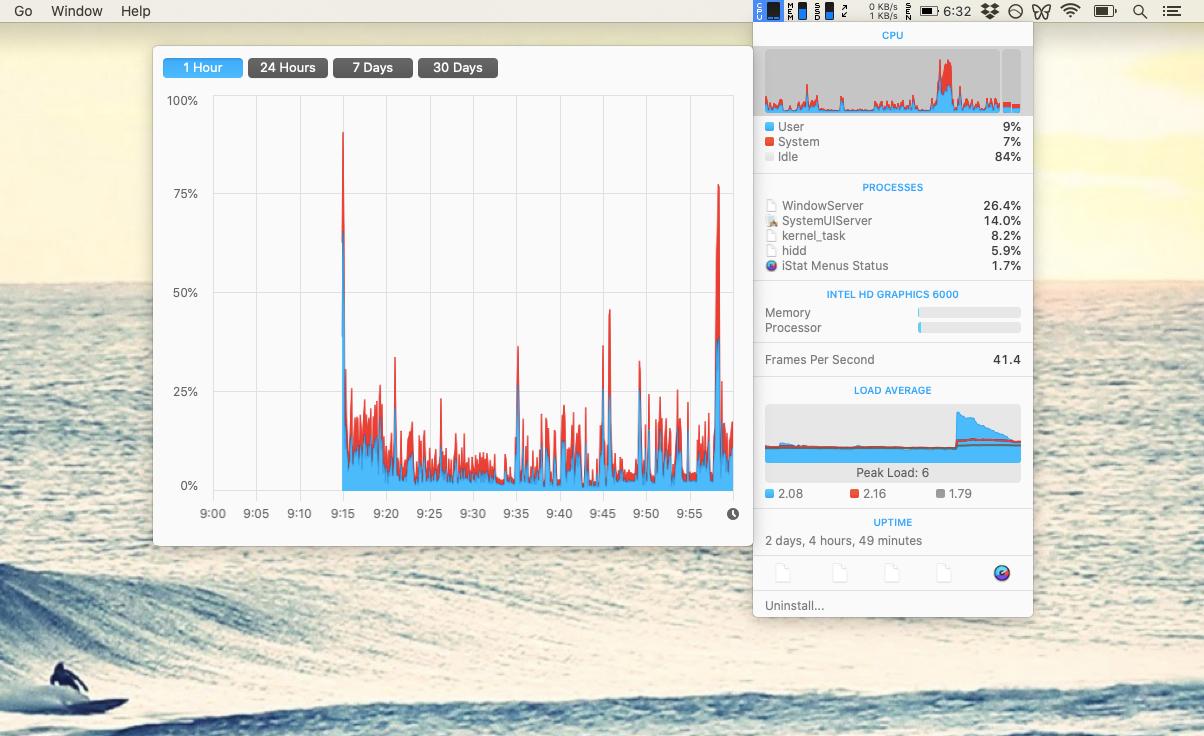 iStat Menus app utility Mac monitor