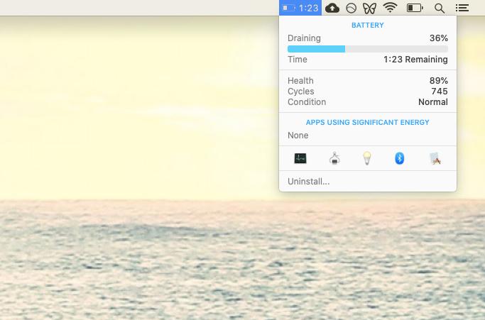 iStat Menus battery health monitor Mac