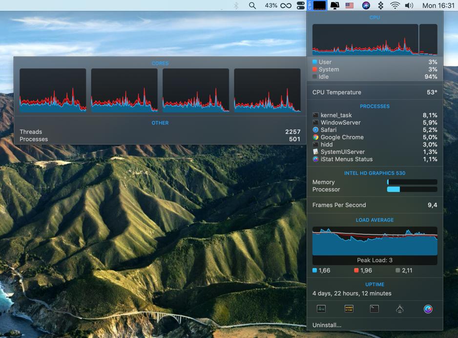 iStat Menus monitor Mac health app