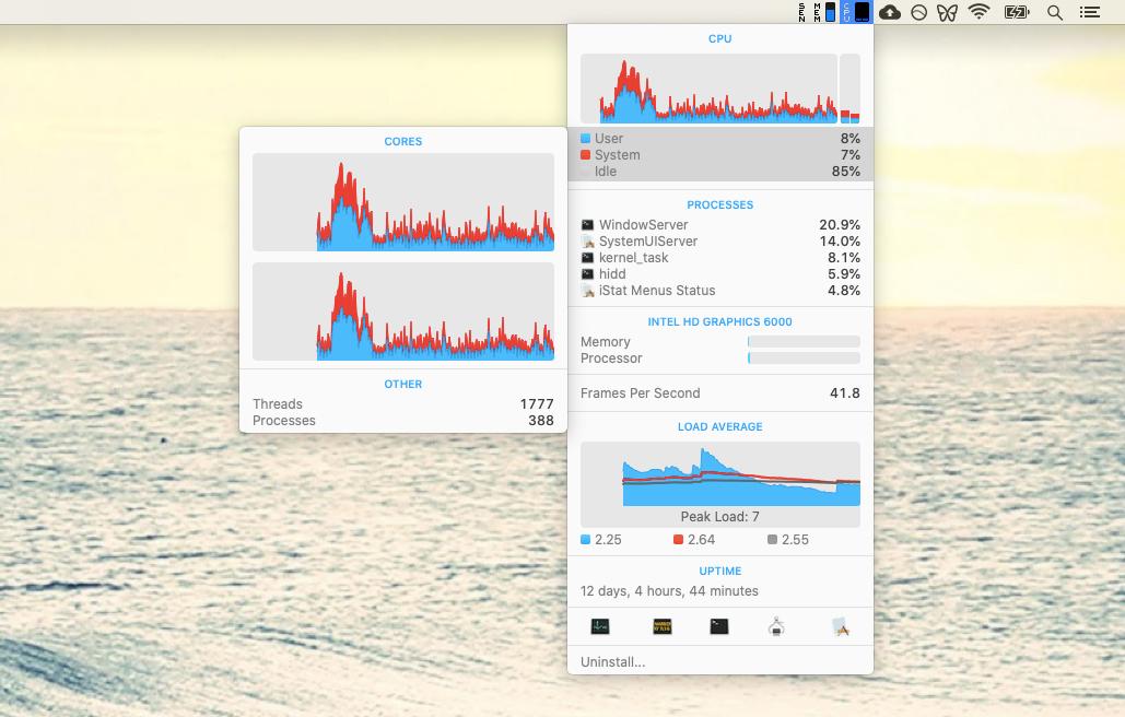 iStat Menus monitor Mac app menu bar
