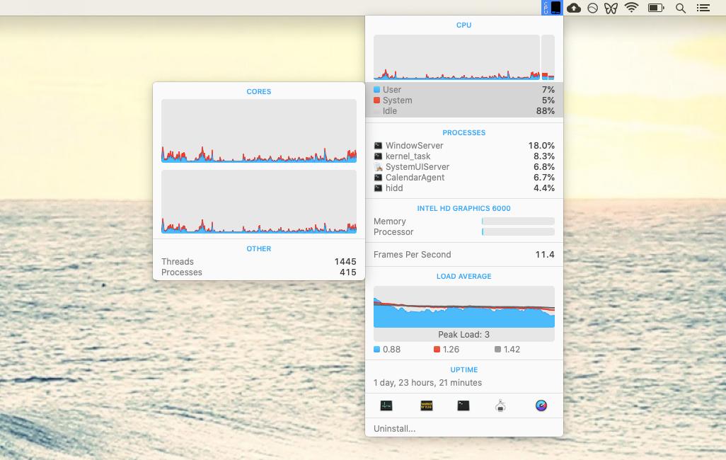 iStat Menus monitor performance Mac utility