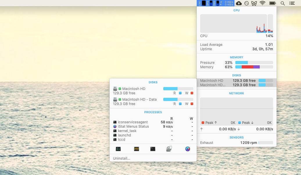 iStat Menus monitoring tool Mac