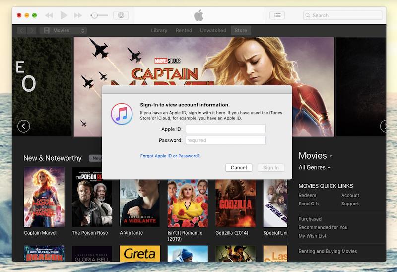 itunes sign in apple id mac